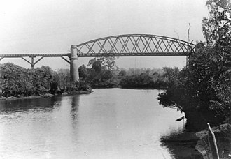 Caboolture River - Railway Bridge over the Caboolture River, 1907