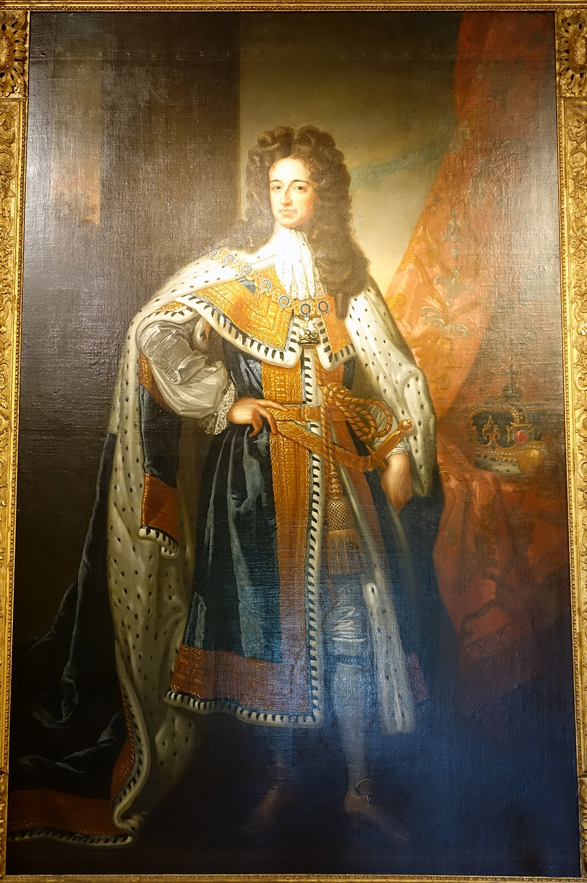 Chatsworth House History: File:State Portrait Of King William III, Contemporary Copy