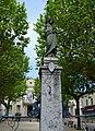 Statue-fontaine, place de la Mairie, Hauterives.JPG