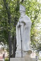 Statue of Saint Augustine, patron saint of Laredo, Texas, erected, thanks to public contributions, in San Agustin Plaza in 1969 LCCN2014630562.tif
