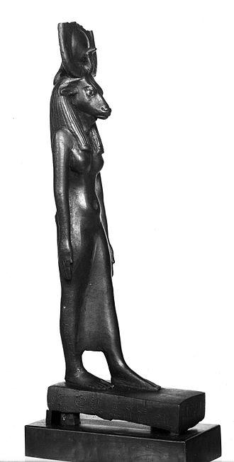 Brooklyn Papyrus - Image: Statuette of Hathor, ca. 664 30 B.C.E. or later, 37.356E