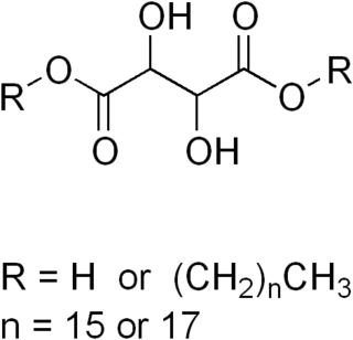 Stearyl palmityl tartrate chemical compound