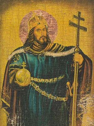Agatha, wife of Edward the Exile - Saint Stephen I of Hungary, long claimed as Agatha's father.
