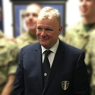 Steve Evans (footballer, born 1962) - Evans pictured whilst at Leeds United