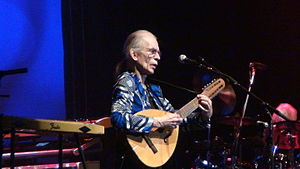 Laúd - English musician Steve Howe playing the instrument at a Yes show in 2013