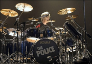 Stewart Copeland with three splash cymbals