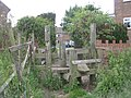 Stile leading to Owlcotes Gardens - geograph.org.uk - 1362892.jpg