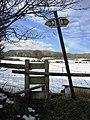 Stile on Footpath near Llanarmon yn Ial - geograph.org.uk - 341931.jpg