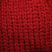 Close-up of stockinette stitch