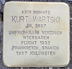 Stolperstein Aalen Kurt Wartski Bahnhofstraße 18.jpg