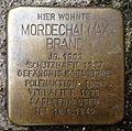 Stolperstein Karlsruhe Mordechai Max Brand Kriegsstr 76 (fcm).jpg