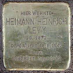 Photo of Heimann Heinrich Levy brass plaque
