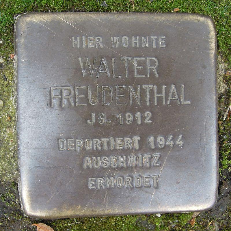 Stolperstein für Walter Freudenthal