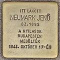 Stolperstein für Jenö Neumark (Budapest).jpg