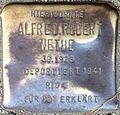 Stumbling block for Alfred Robert Nethe (Alteburger Strasse 11)