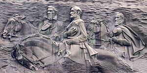 Henry Augustus Lukeman - Image: Stone Mountain Carving 2