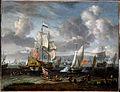 Storck, Abraham - An English Yacht saluting a Dutch Man-of-War in the port of Rotterdam - Google Art Project.jpg