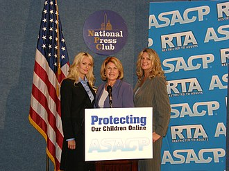 Association of Sites Advocating Child Protection - Stormy Daniels, Joan Irvine, and Joy King at a press conference in Washington, D.C. in May 2008.