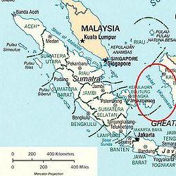 Región del estrecho de Karimata, donde están las islas