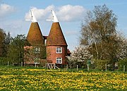 Converted oast houses at Frittenden.