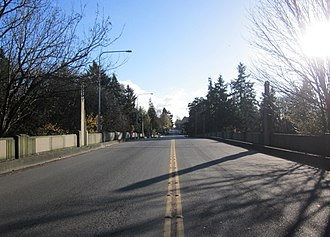 Cowen Park Bridge - Image: Street Level Cowen Park Bridge, Seattle