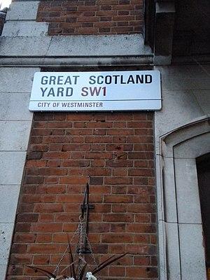 Great Scotland Yard - Street sign of Great Scotland Yard