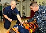 Stretcher-bearer training aboard USS Bataan DVIDS258833.jpg