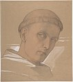 Study of the Head of St. Augustine, for the painting of the Madonna and Child with Saint Augustine and Bonifacius (1846) MET DP804035.jpg