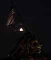 Supermoon over the the US Marine Corps War Memorial in Arlington, Virginia.jpg