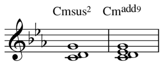 Added tone chord Chord made of a tertian triad and a miscellaneous fourth note