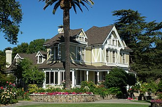 Sutter Home Winery - The Sutter Home Victorian house is featured on the wine bottle labels