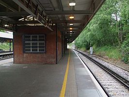 Swanley station platform 1 look east3.JPG