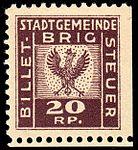 Switzerland Brig revenue 20Rp - 4A.jpg