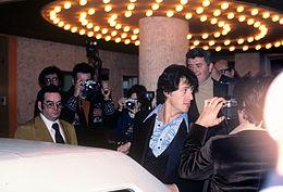 Sylvester Stallone alla prima di F.I.S.T (1978).