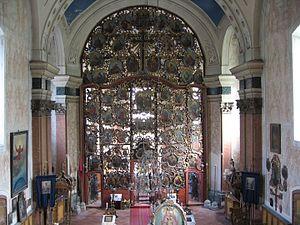 Church of St. Nicholas, Szeged -  The rococo iconostasis.