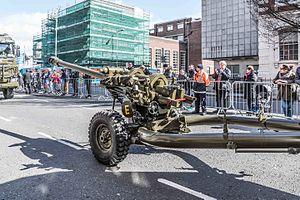 Easter Rising centenary parade - 105 mm L119 light gun