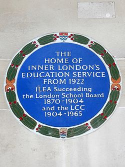 The home of inner london%27s education service from 1922 ilea succeeding the london school board 1870 1904 and the lcc 1904 1965