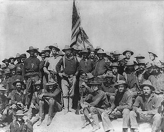 Foreign interventions by the United States - Colonel Theodore Roosevelt and the Rough Riders after capturing San Juan Hill
