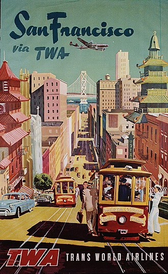 California Street (San Francisco) - Image: TWA San Francisco Poster (19451894436)