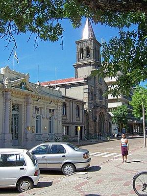 Tacuarembó - Governmental building and Cathedral of St. Fructuosus