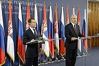 Tadic-Medvedev 20 Oct 2009.jpg