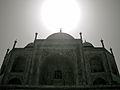 Taj Mahal in black and white.jpg