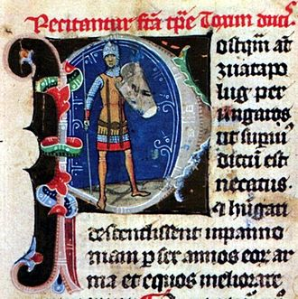 Michael of Hungary - Michael's father, Taksony depicted in the Illuminated Chronicle