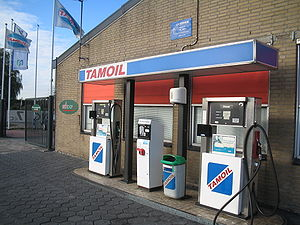 National Oil Corporation - Oilinvest trades under the Tamoil brand in several European and African countries, such as at this filling station in Pijnacker in the Netherlands.