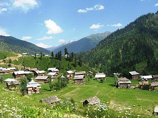 Taobat Village in Azad Kashmir, Pakistan