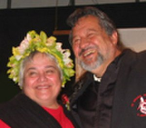 New Zealand general election, 2005 - Image: Tariana and Pita at Maori Party Launch 2005