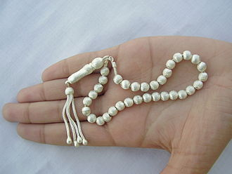 Prayer beads - A silver misbaha.