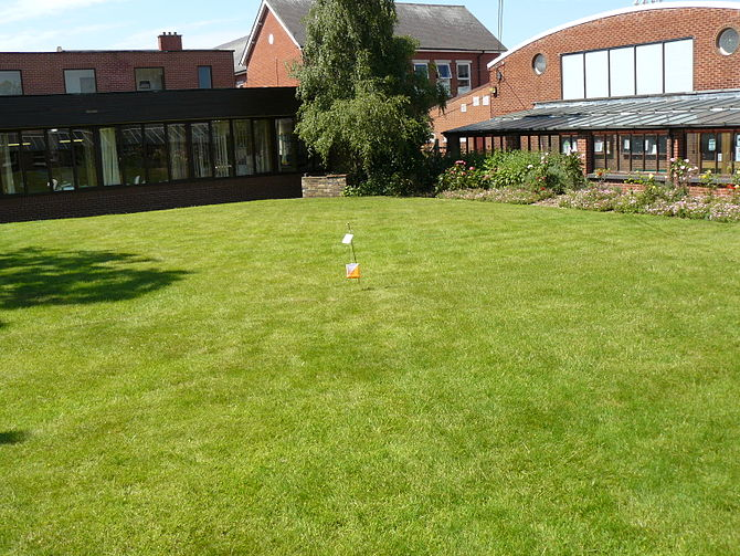 English: The Teachers Lawn outside the Staffroom