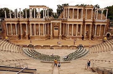 Teatro Romano de Mérida (Badajoz, España) 02.jpg