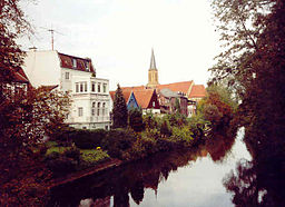 Historic town centre of Telgte situated on the Ems river.